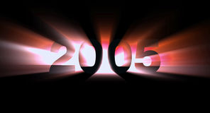 Year 2005. Flaming red 2005 Stock Images