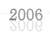Year 2006. Year 2006 with reflection isolated on white background Stock Images