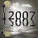 Year 2007. Computer generated background for the year of 2007 Royalty Free Stock Image