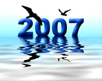 Year 2007. Computer generated background for the year of 2007 Royalty Free Stock Photography
