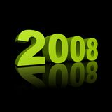 Year 2008. The year 2008 illustration on black background stock illustration