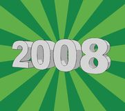 Year 2008. The year 2008 illustration on retro background (vector format royalty free illustration