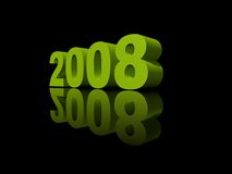 Year 2008. The year 2008 - illustration on black background stock illustration