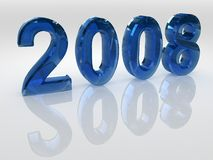 Year 2008. Blue symbols of new year royalty free illustration