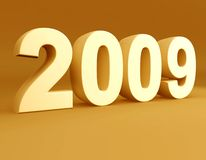 Year 2009 3d rendered Stock Images
