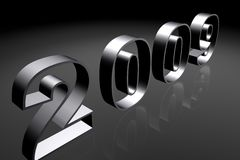 Year 2009. Computer generated number 2009, grey colors, three dimensional digits Stock Image