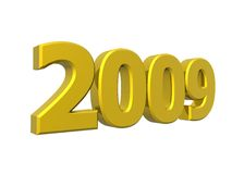 Year 2009. 3D metallic 2009 year to be incorporated in your designs Royalty Free Stock Photo