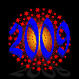Year 2009. Vector greeting card year 2009 Stock Image