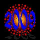 Year 2009. Vector greeting card year 2009 Royalty Free Illustration