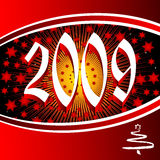 Year 2009. Vector greeting card year 2009 Royalty Free Stock Image