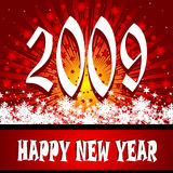 Year 2009. Vector greeting card year 2009 Royalty Free Stock Photos