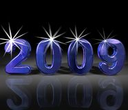 Year 2009 in Blue Stock Images