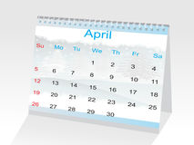 Year 2009 calendar showing the month of April Stock Photography