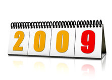 Year 2009 calender. 2009 creative calender in stand format Stock Photography