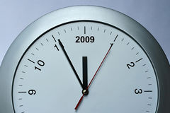 Year 2009 clock Royalty Free Stock Photography