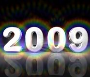 Year 2009 illustration Royalty Free Stock Photos