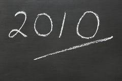 Year 2010. The year 2010 written on a blackboard Stock Photography