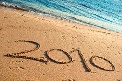 Year 2010. Written in the Sand Stock Images