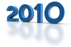 Year 2010. New Year 2010. 3D Render Royalty Free Stock Photos