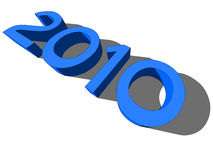 The year 2010. Vector illustration of the year \2010 Royalty Free Stock Images