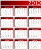 Year 2010 calendar Stock Photos