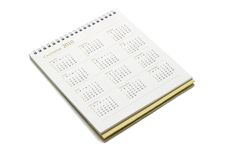 Year 2010 calendar. Isolated on white background Stock Images