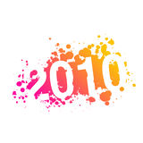 Year 2010 illustration - vector Stock Image