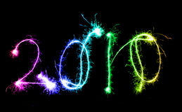The year 2010 in sparkles Stock Image