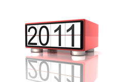 Year 2011. New year 2011 in 3d Stock Images