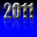 Year 2011. A design for the year 2011 Stock Photo