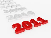 Year 2011. 3d render of a Year 2011 Stock Photography