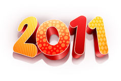 Year 2011. High quality colorful 3d 2011 text Royalty Free Stock Photos
