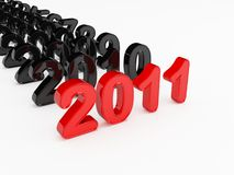 Year 2011. 3d render of a Year 2011 Stock Photos
