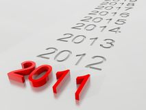 Year 2011 Stock Photo