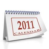 Year 2011 desktop organizer. Year 2011 monthly desktop orgainizer on white background Royalty Free Stock Images