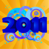 Year 2011  illustration Stock Photo