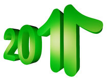"Year 2011 showing growth. May year 2011 be the year of growth … the ""11"" part of year is converted into upward arrows to show growth royalty free illustration"