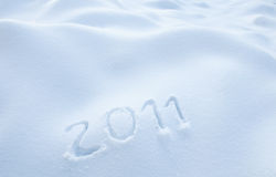 Year 2011 in Snow Stock Image
