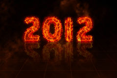 Year: 2012. Burning numbers of year 2012 in flames Royalty Free Illustration
