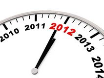 Year 2012. New year 2012 as Letters on a Clock Royalty Free Stock Photography