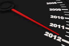 Year 2012. Countdown to New Year 2012 - Speedometer stock illustration