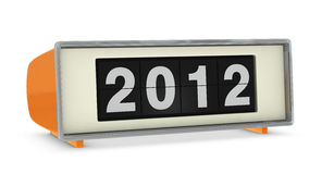 Year 2012. Old digital clock showing year 2012 (3d render Royalty Free Stock Images