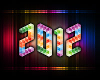 Year 2012. 2012 colorful year with background royalty free illustration