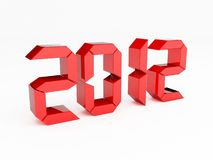 Year 2012. 3d render of a Year 2012 Stock Illustration