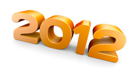 Year 2012. A 3D concept rendering Royalty Free Stock Photos