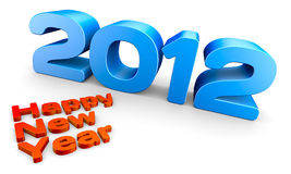 Year 2012. Happy new year 2012, a 3D concept rendering Royalty Free Stock Image