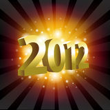 Year 2012. 2012 Year Poster, Vector Illustration Royalty Free Stock Photography