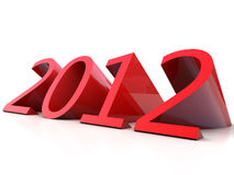 Year 2012. New Year 2012 over white Background Royalty Free Stock Photo