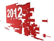 Year 2012 on banner. On white background Royalty Free Illustration