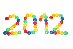 Year 2012 from candy Royalty Free Stock Photo